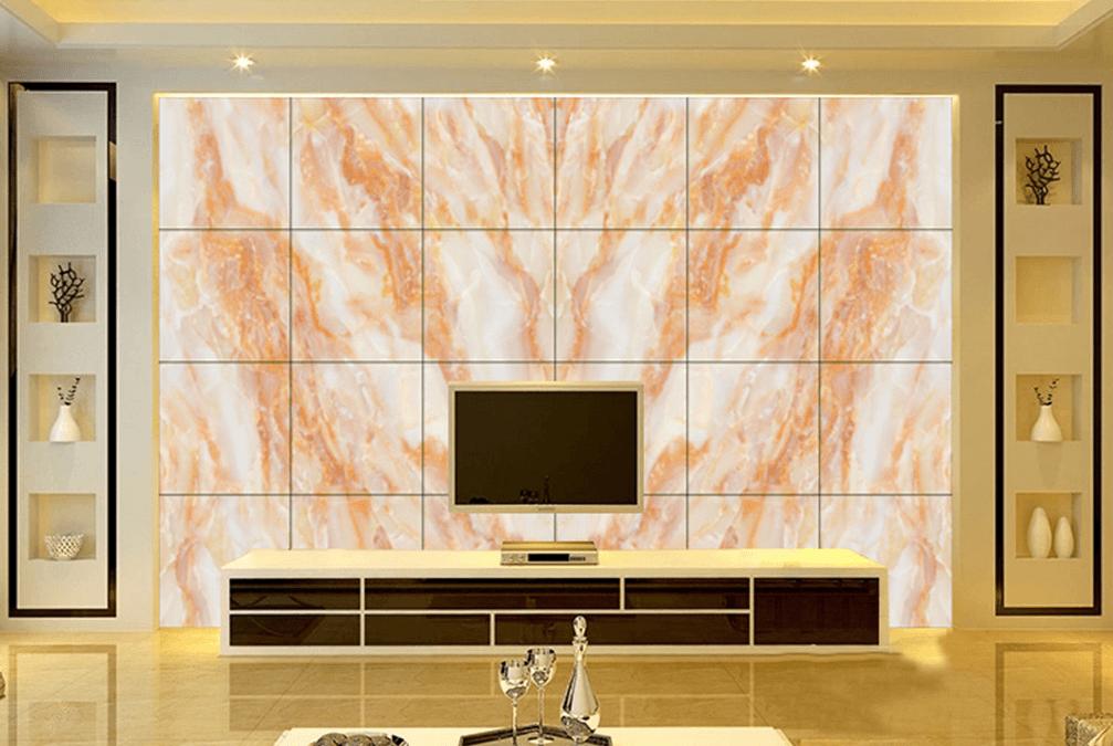 大理石背景墙,最流行的电视背景墙