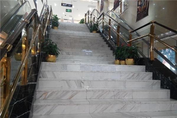 爵士白楼梯踏步|大理石楼梯踏步厂家|天然大理石楼梯